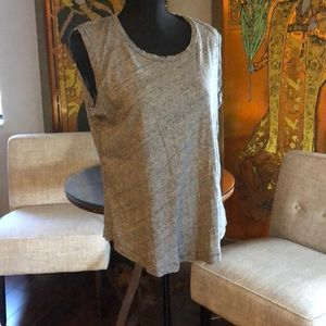 Madewell Muscle tank, gray cotton, large